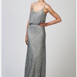 Adrianna Papell Art decor beaded gown